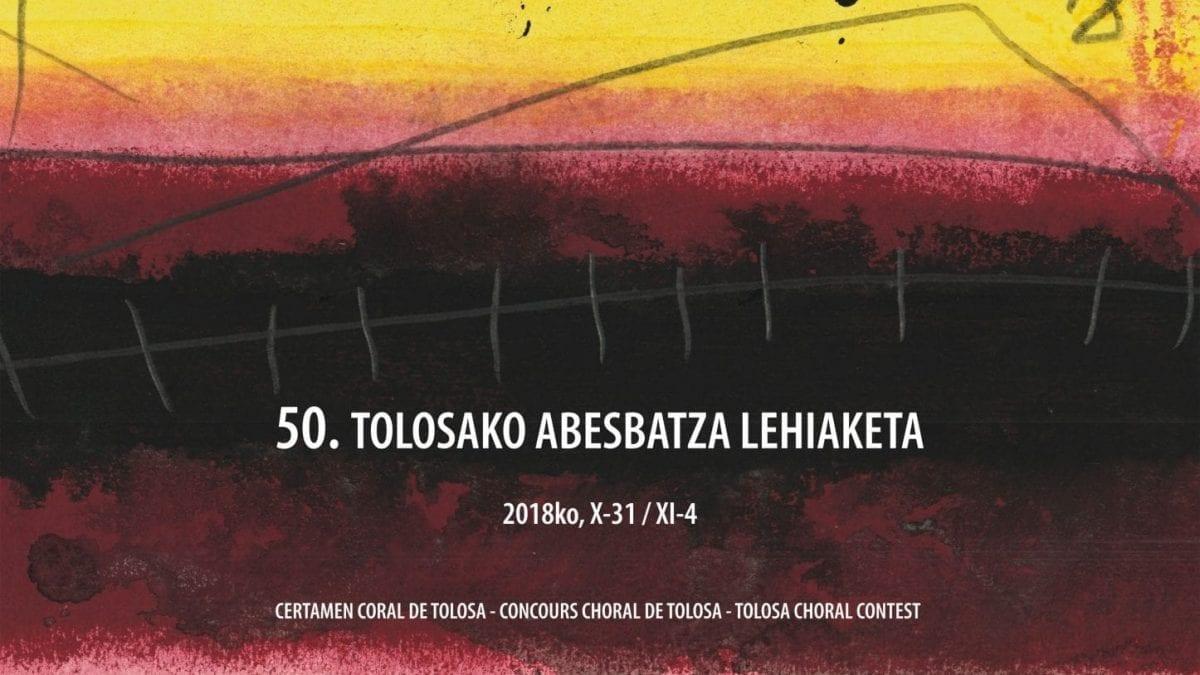 Cartel Certamen Coral Internacional de Tolosa 2018 - 50 Aniversario