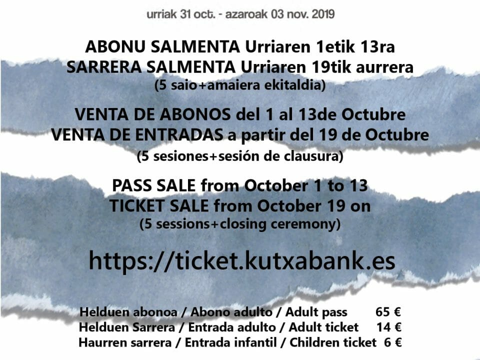 Tickets of the 51st Tolosa Choral Contest on sale 21