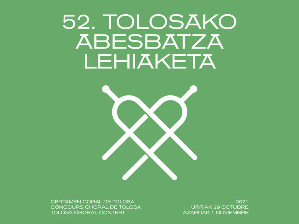 52º Certamen Coral de Tolosa: venta de entradas a partir del 17 de octubre, a las 19h 8